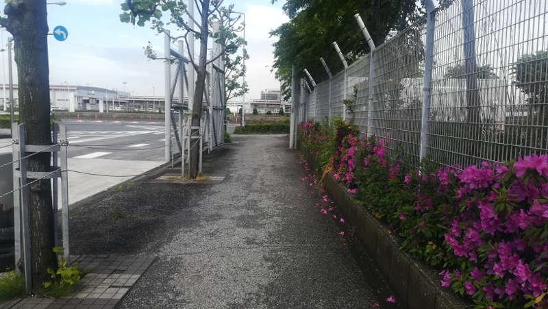 羽田空港・西貨物ターミナル守衛室前