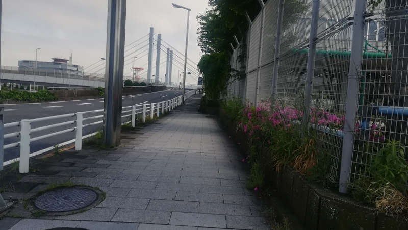 羽田空港・西貨物ターミナル前歩道1