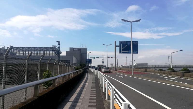 羽田空港 西貨物ターミナル前歩道3