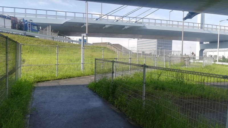 羽田空港 西貨物ターミナル前歩道1